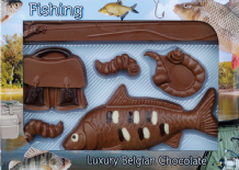 Belgian Milk Chocolate Fishing Set.